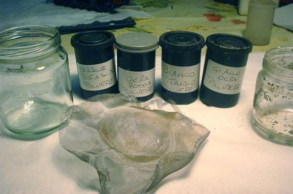 Tinte utilizzate per realizzare i pigmenti