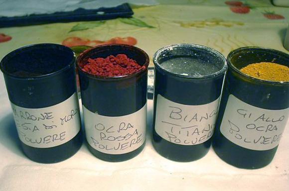 Selezione di pigmenti base da miscelare