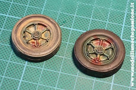 Colorazione di base degli pneumatici in scala
