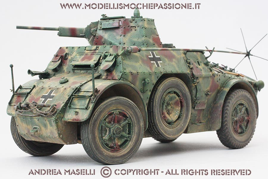 Italian Wheeled Armoured Vehicle AB41 Late Version In 1 35 Scale